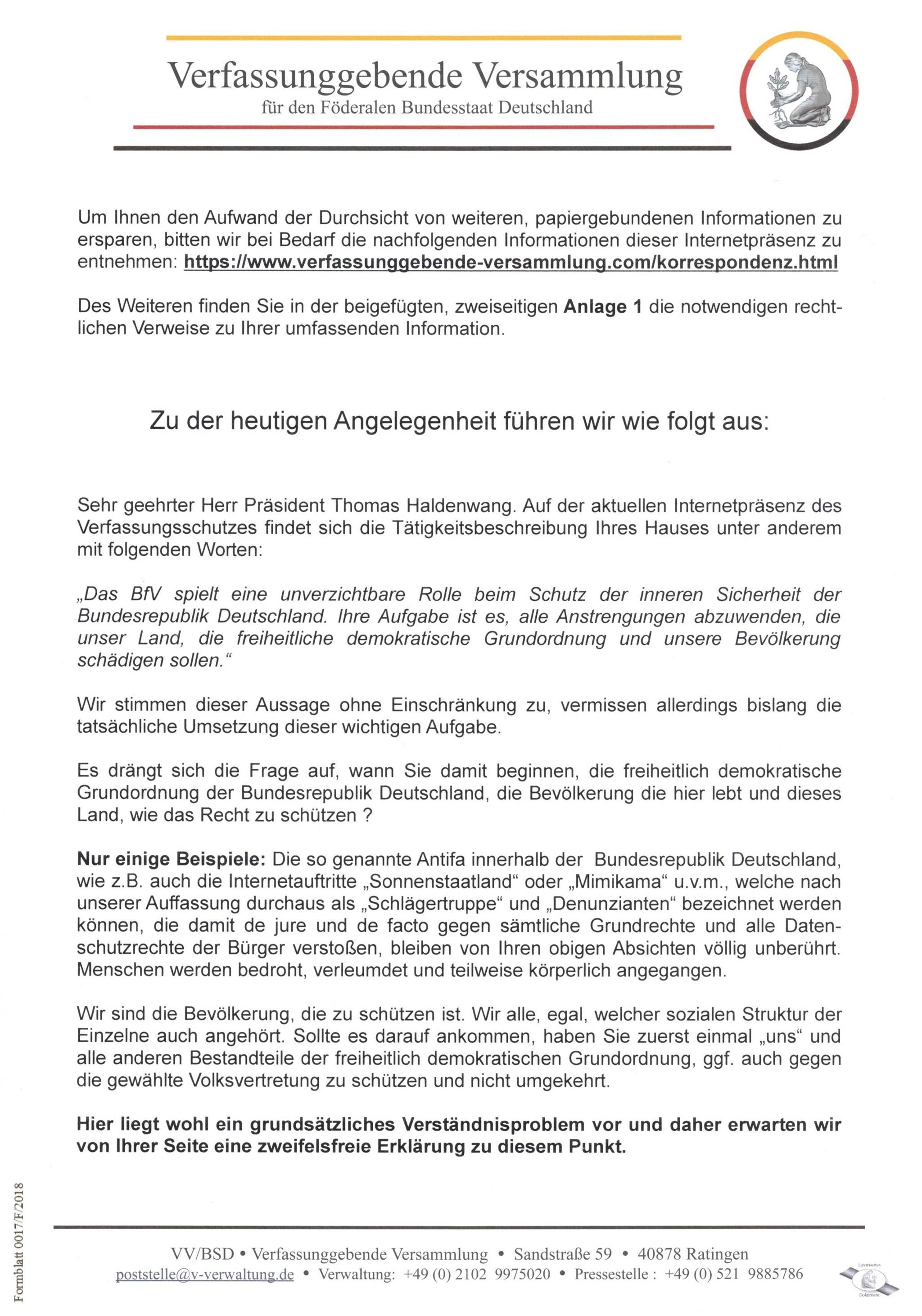 Brief Ddbnews Redaktion